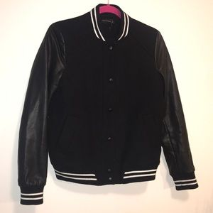 Zara Sz small black bomber jacket
